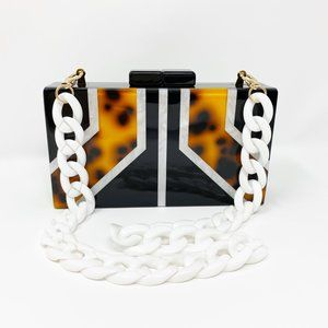 Closet Rehab Bags - Acrylic Party Box in Geometric Tortoise